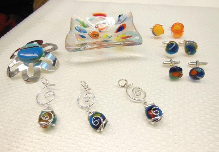 Repurposed forever glass art treasures!